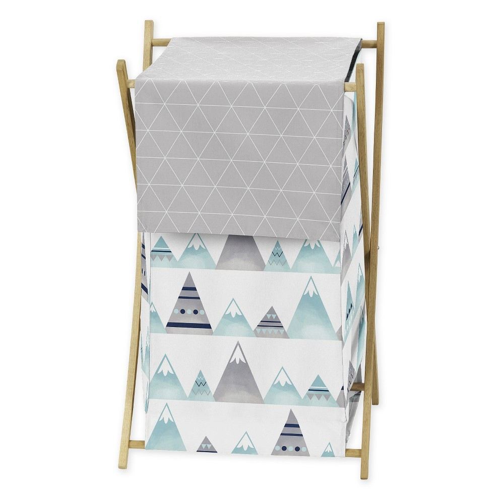 "Image of ""26.5"""" x 15.5"""" Mountains Laundry Hamper - Sweet Jojo Designs"""