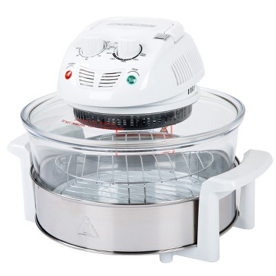 Hastings Home 17-Qt Tabletop Halogen Oven and Fryer - White
