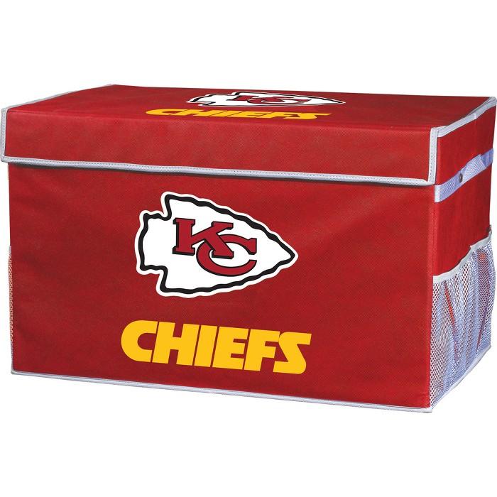 NFL Franklin Sports Kansas City Chiefs Collapsible Storage Footlocker Bins - image 1 of 6