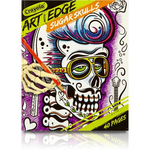 Crayola Art With Edge Sugar Skulls Coloring Book Target