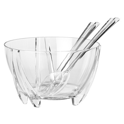 Prodyne. Acrylic Salad Bowl Set clear - 3 pc