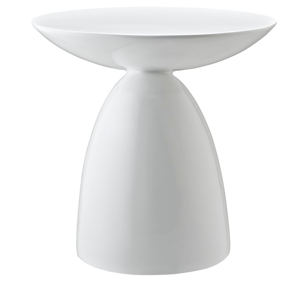 Image of Flow Side Table White - Modway