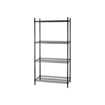 """Staples 4-Shelf Wire Shelving Storage Unit (72"""" x 36"""" x 18"""") 810835"""