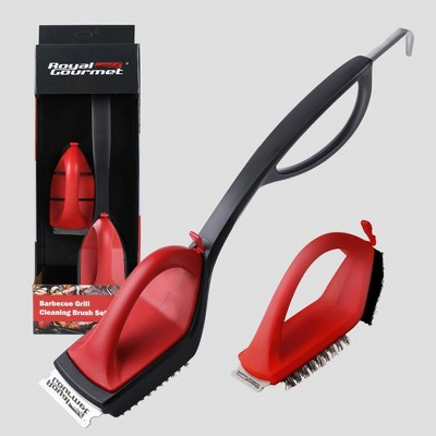 Royal Gourmet Grill Cleaning Brush Set With 18'' Wire Bristle Brush and Scraper