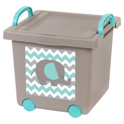 IRIS Toy Plastic Storage Bin - 4pk, Gray