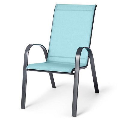 sling stacking patio chair threshold target rh target com Wood Patio Chairs Metal Patio Chairs