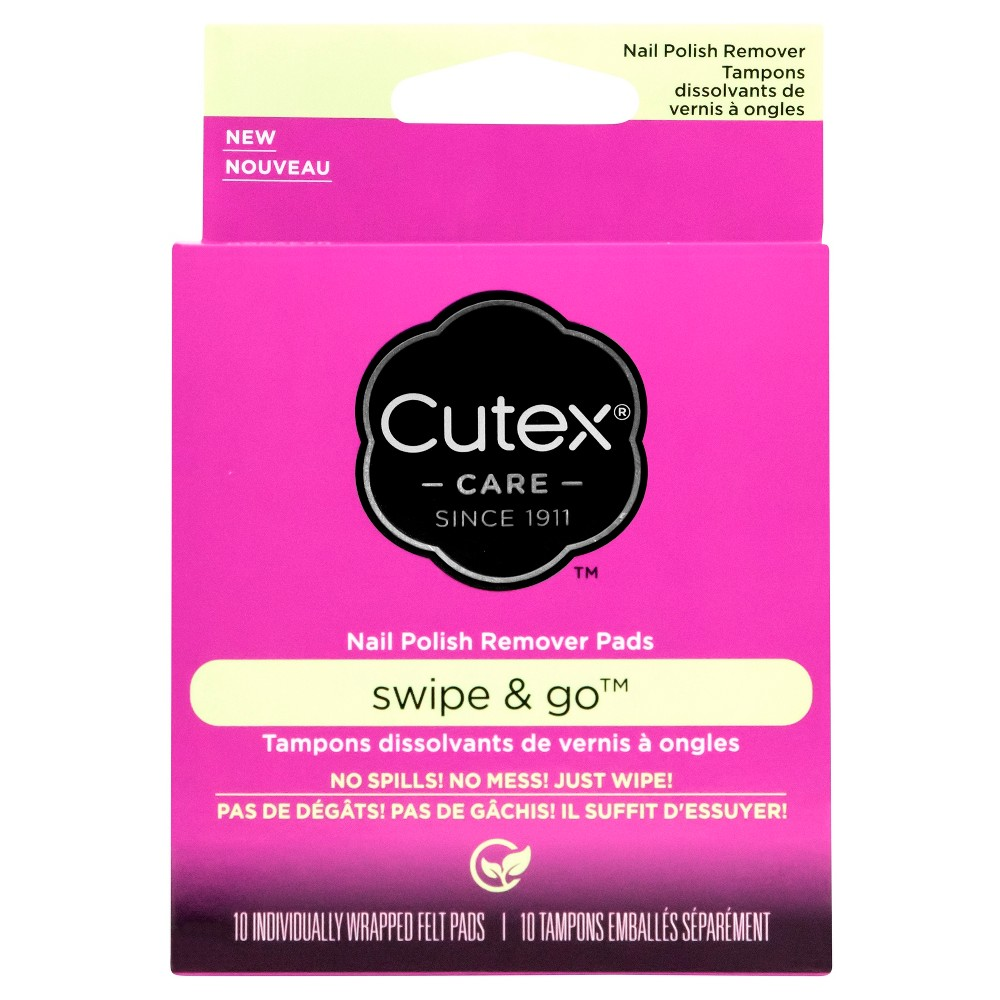Image of Cutex Swipe and Go Nail Polish Remover Pads - 10ct