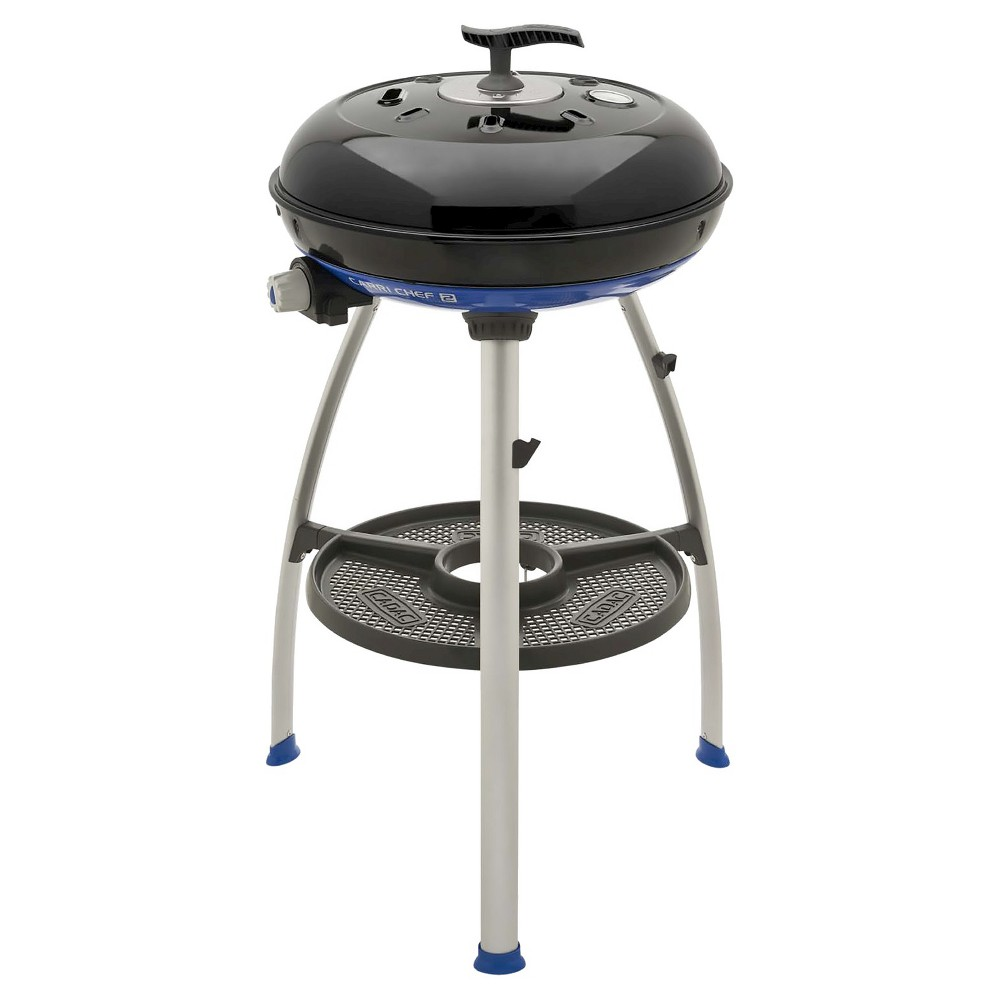 Image of Cadac 8910-40 Cadac Carri Chef Grill with Pot Ring, Grill Plate, Pizza Pan, Blue