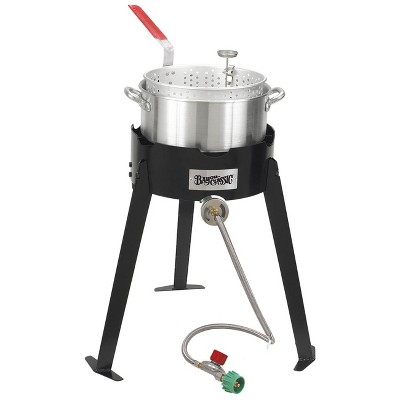 Bayou Classic  Stoves Aluminum Fish Cooker With High Pressure Outdoor Propane Gas Stove 2212