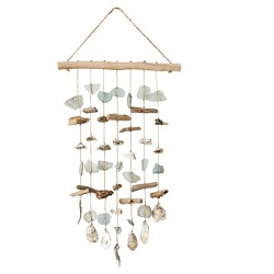 Driftwood, Sea Glass, Shell Hanging Wind Chime - 3R Studios