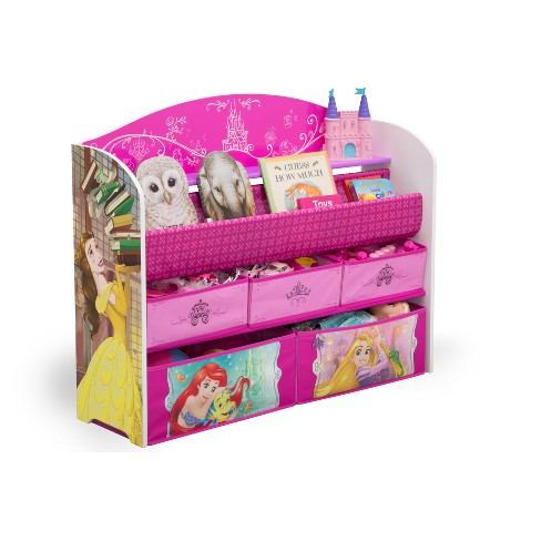 Delta Children Disney Princess Deluxe Book & Toy Organizer : Target