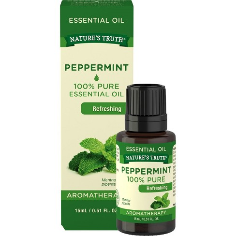 nature s truth peppermint aromatherapy essential oil 15ml target