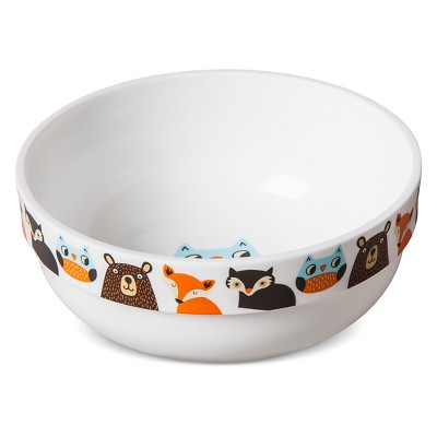 Woodland Animals Decal Plastic Cereal Bowl - Pillowfort™