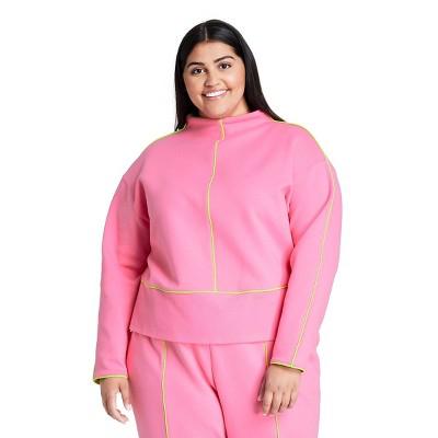 Women's Cropped Pullover Sweatshirt - Victor Glemaud x Target Pink