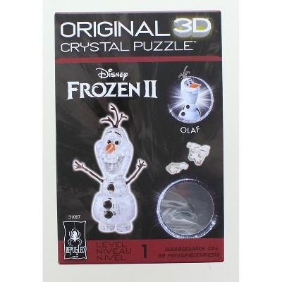University Games Disney Frozen 2 Olaf 39 Piece 3D Crystal Jigsaw Puzzle