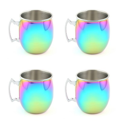 20oz 4pk Stainless Steel Moscow Mule Mugs - Cambridge Silversmiths