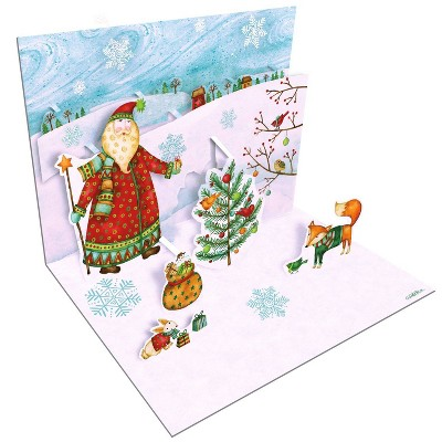 8ct Snowy Inspirations Pop-Up Boxed Christmas Cards
