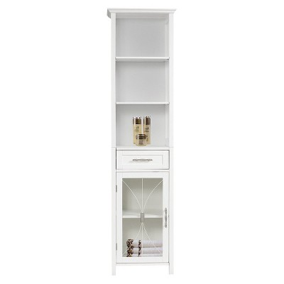 Symphony Linen Cabinet White - Elegant Home Fashions