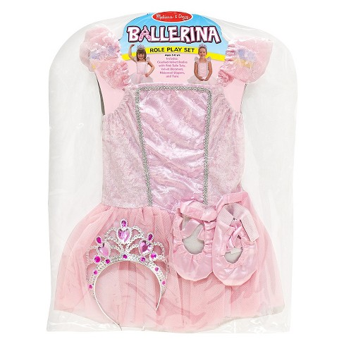 Melissa & Doug Ballerina Role Play Costume Set (4pc) - Includes Ballet Slippers, Tutu - image 1 of 3