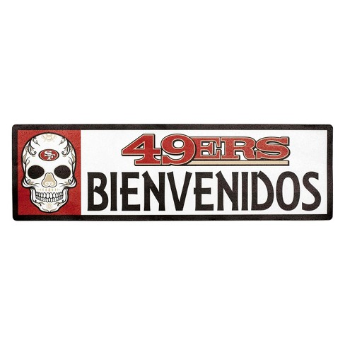 nfl san francisco 49ers outdoor bienvenidos step target