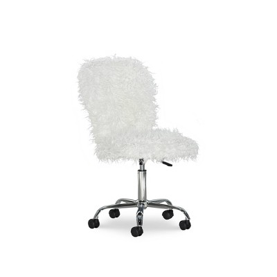 Faux Flokati Armless Office Chair - Linon