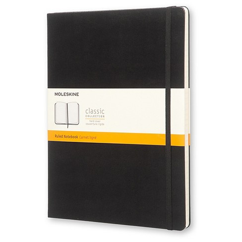 "Moleskine® Notebook, Hard Cover, College Ruled, 192 sheets, 7.5"" x 9.75"" - Black - image 1 of 6"
