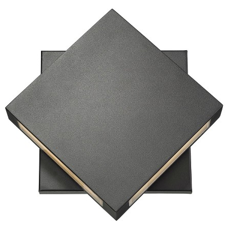 """Z-Lite 572B-LED Quadrate 2 Light 11"""" Tall 2700K LED Adjustable Outdoor Wall Sconce - image 1 of 4"""