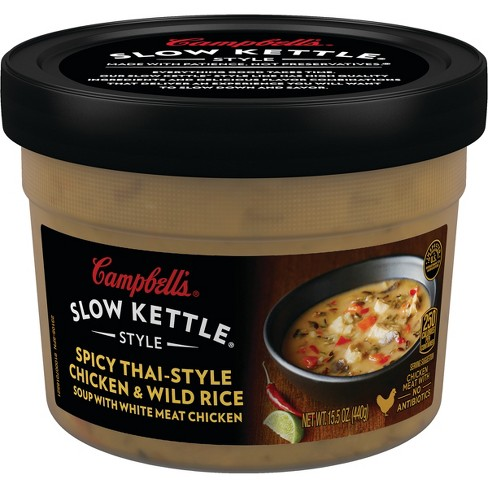 Campbell's® Slow Kettle® Spicy Thai-Style Chicken & Wild Rice Soup 15.5 oz - image 1 of 5