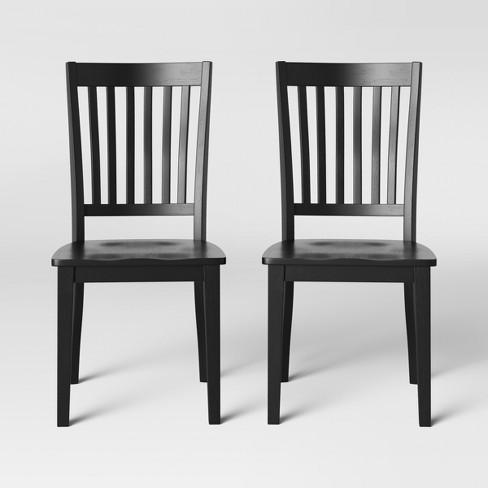 2pk Holden Slat Back Dining Chairs - Threshold™ - image 1 of 4