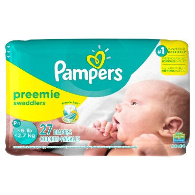 Pampers Swaddlers Diapers Jumbo Pack Size Preemie (27ct)
