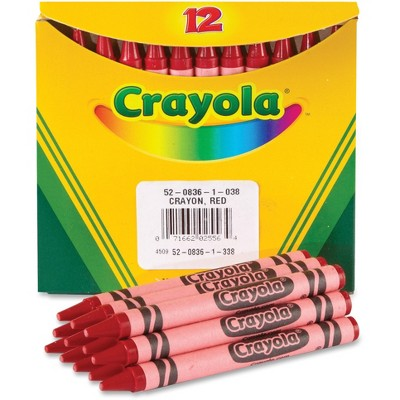 Crayola Bulk Crayons 12/BX Red 520836038