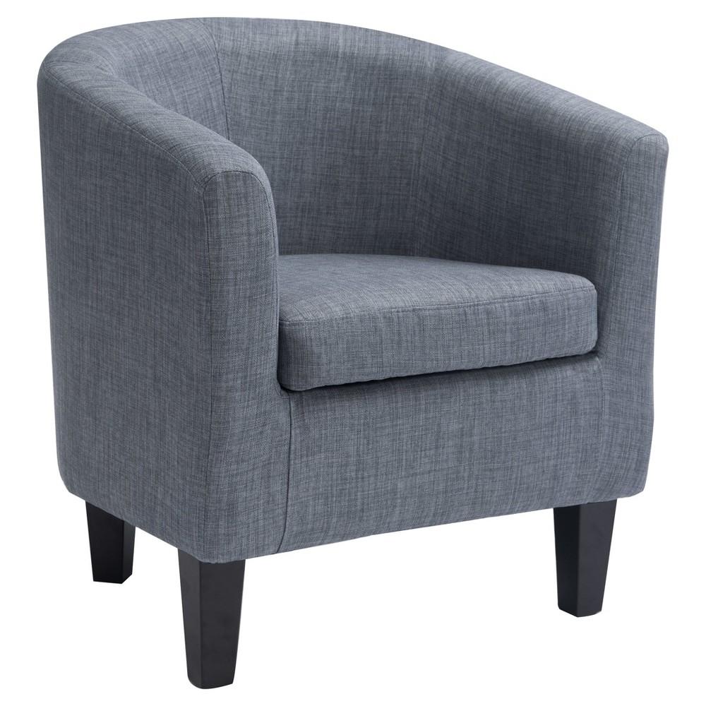 Antonio Tub Chair - Blue Grey - Corliving, Blue Gray