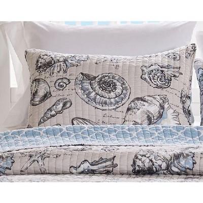 Barefoot Bungalow Cruz Quilted Pillow Sham Linen