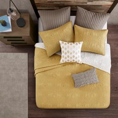 3pc Full/Queen Kandula Coverlet Mini Set Yellow