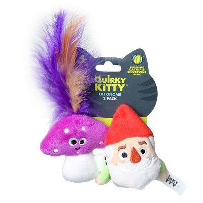 Quirky Kitty Oh Gnome Cat Toy - 2pk