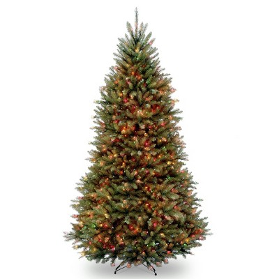 9ft National Christmas Tree Company Full Dunhill Fir Hinged Artificial Christmas Tree 900ct Bulb Multicolored