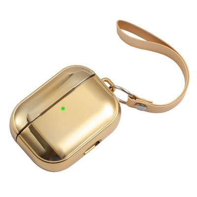 Insten Case Compatible with AirPods Pro - Glitter Plating Cover with Hand Strap