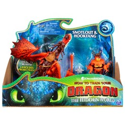 DreamWorks Dragons Hookfang and Snotlout Dragon with Armored Viking Figure