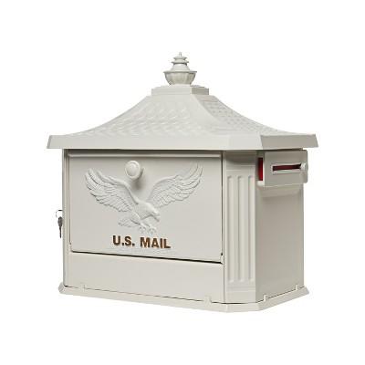 Gibraltar Mailboxes Hamilton Post Mount Mailbox White