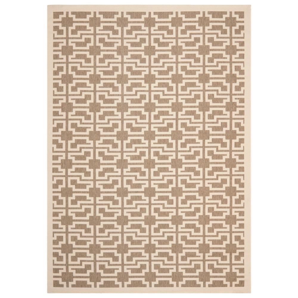 8' x 11' Bury Outdoor rug Mocha/Beige - Safavieh, Brown Beige
