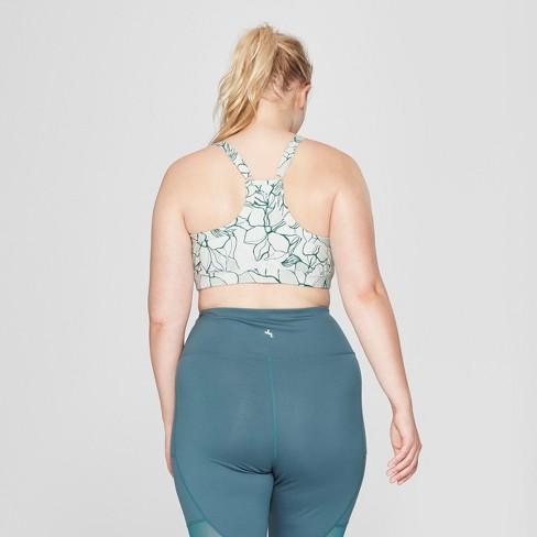 4d9aa7076a4fc Women s Plus Size Comfort Floral Print Sports Bra - JoyLab™   Target