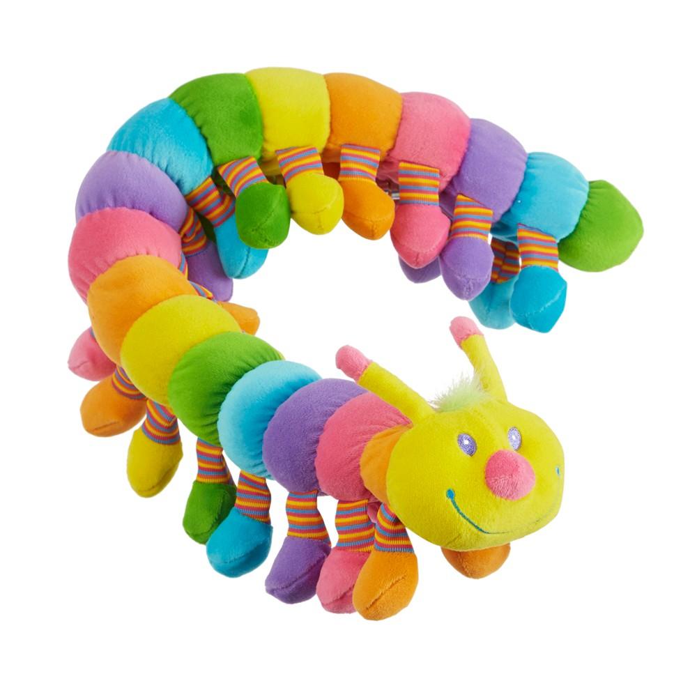 Melissa 38 Doug Longfellow Caterpillar Rainbow Colored Stuffed Animal With 32 Floppy Feet Over 2 Feet Long