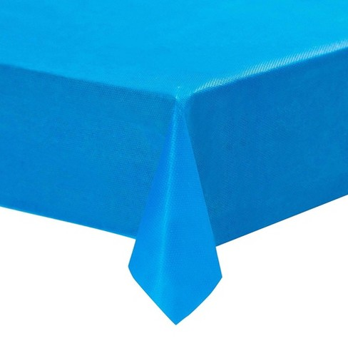 Juvale 12 Pack Blue Plastic Tablecloths Rectangular Disposable Table Covers 54 X108 Table Cloths Target