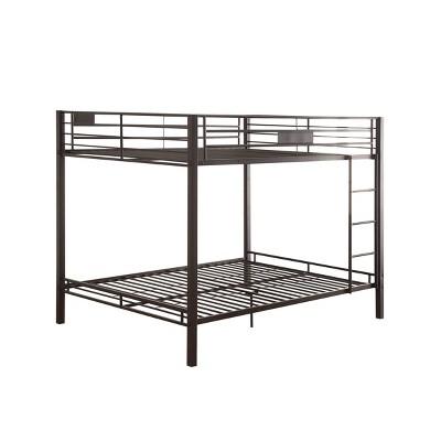 Queen/Queen Kaleb Kids' Bunk Bed Black Sand - Acme Furniture