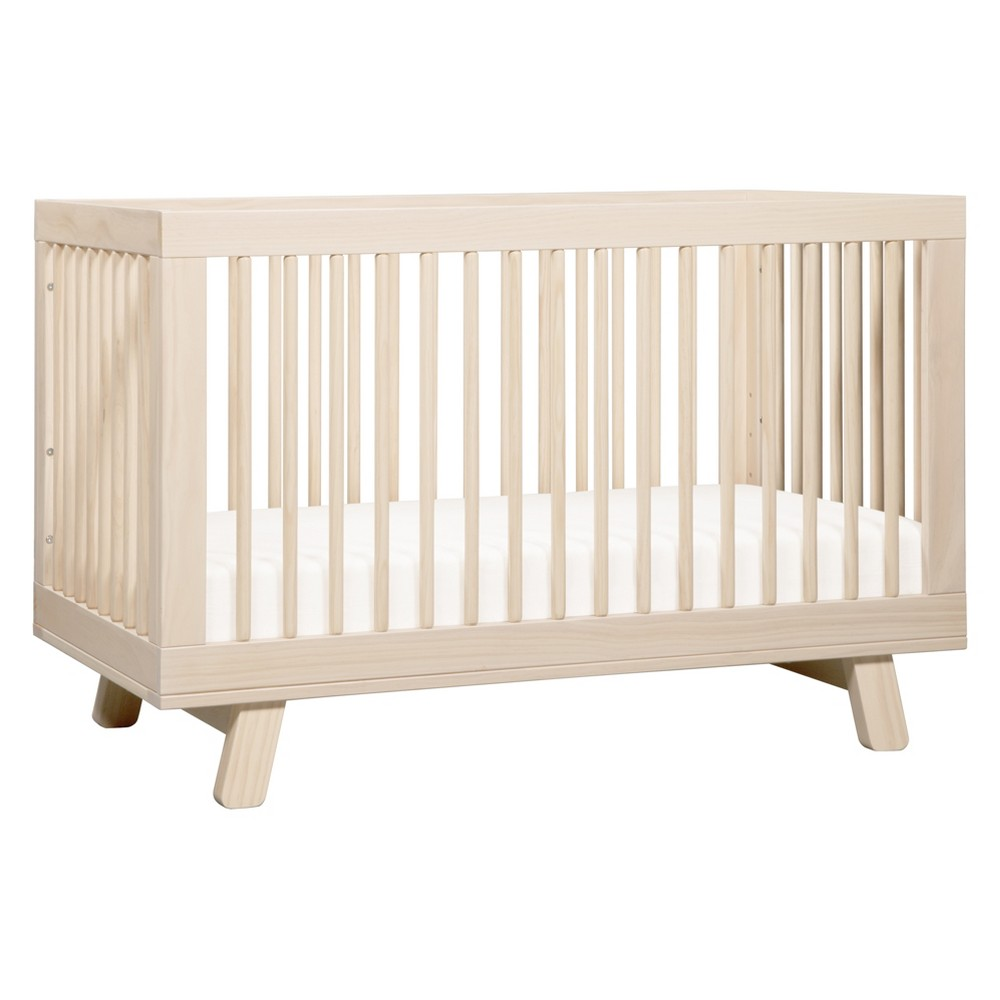 Image of Babyletto Hudson 3-in-1 Convertible Crib with Toddler Rail, Washed Natural