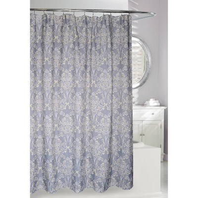 Classic Elegance Shower Curtain Gray/Yellow - Moda at Home