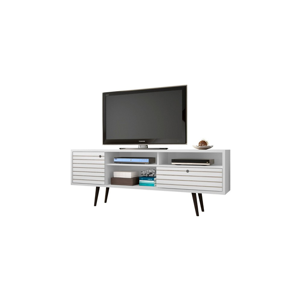 70.86 Liberty Mid Century Modern TV Stand White - Manhattan Comfort, White/