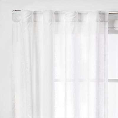 2pk 42 x63  Light Filtering Window Curtain Panels White - Made By Design™