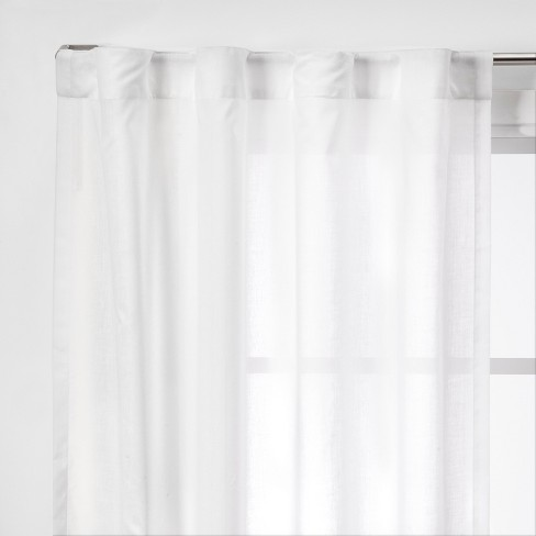 """2pk 42""""x95"""" Light Filtering Window Curtain Panels White - Made By Design™ - image 1 of 4"""