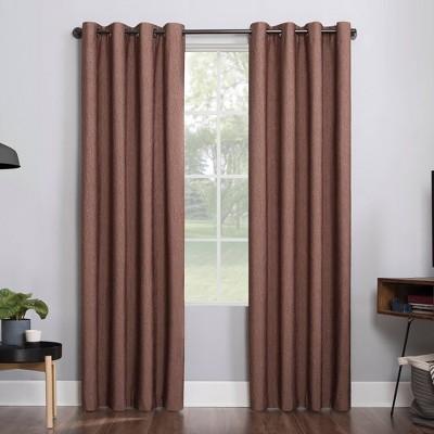 Noir Dimensional Thermal Extreme 100% Blackout Grommet Curtain Panel - Sun Zero